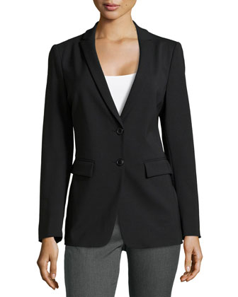 2-Button Suiting Jacket, Black