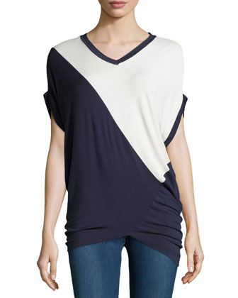 Short-Sleeve Tunic Top