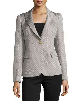 Optical Ombre Wave Jacket, Gray/Porcelain