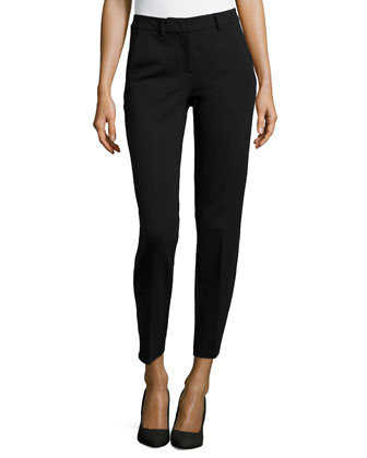 Jersey Relaxed-Fit Pants, Black