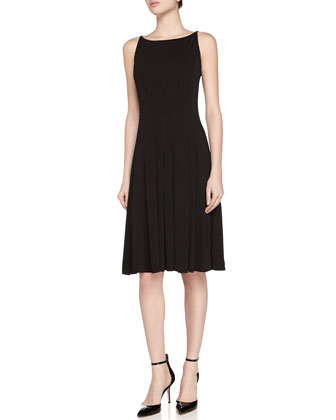 Sleeveless Pleated Jersey Dress