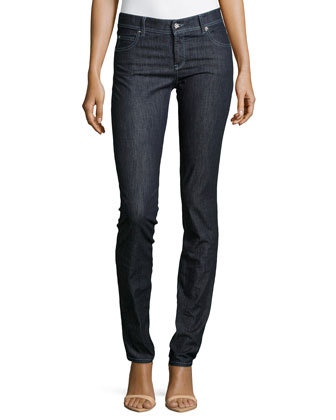 Dark Denim Straight-Leg Jeans