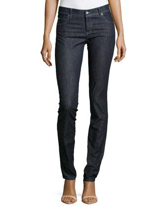 Dark Denim Straight-Leg Jeans