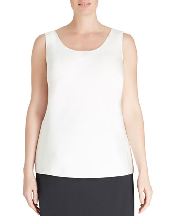 Matte Silk Bias Tank, Cloud, Women's