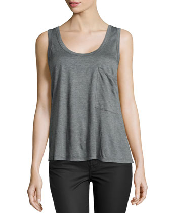 Large Front-Pocket Tank, Gray