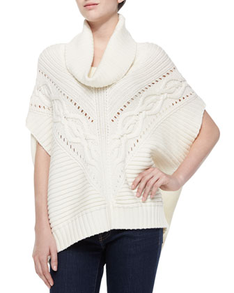 Amarisa Cable-Knit Cowl-Neck Sweater