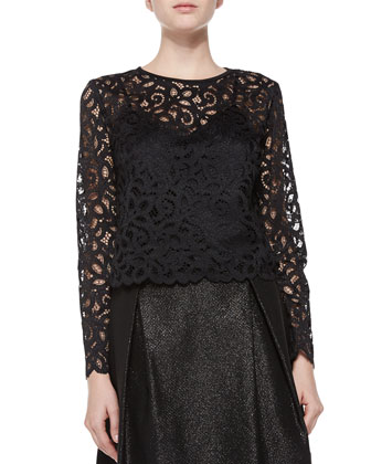 Anita Long-Sleeve Lace Top