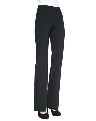 Palen Bonded Wide-Leg Pants, Nero Black