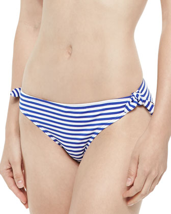 Taylor Striped Swim Top & Gidget Striped Ruched-Back Swim Bottom