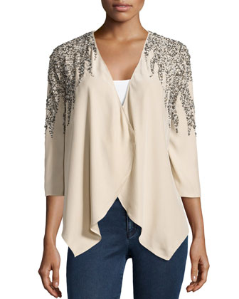 Feather-Sequined Jacket