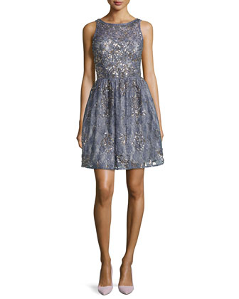 Lace Beaded Party Dress, Prussian