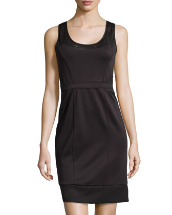 Stretch Neoprene Dress, Black