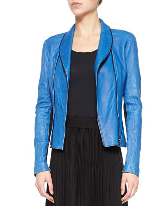 Yasmine Washed Leather Jacket