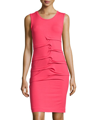 Sleeveless Jersey Dress, Candy Pink