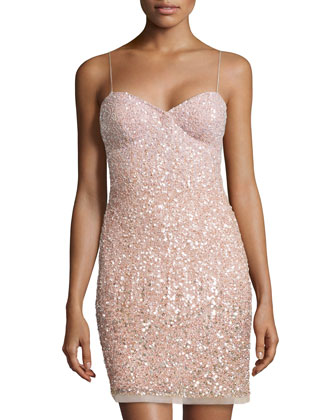 Sequined Cocktail Dress, Blush