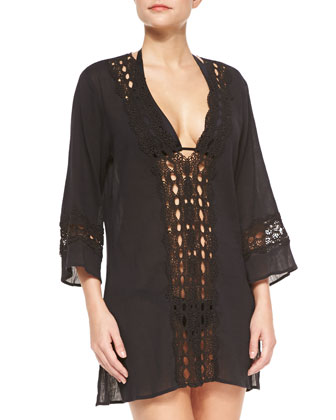 Intuition Crochet-Trim Tunic, Women's