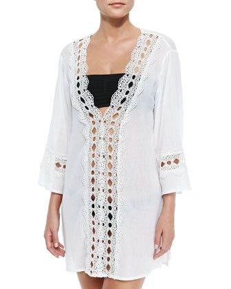 Intuition Crochet-Inset Tunic, Women's