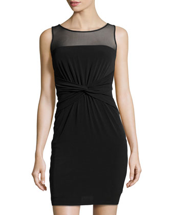 Matte Jersey Knit Dress, Black
