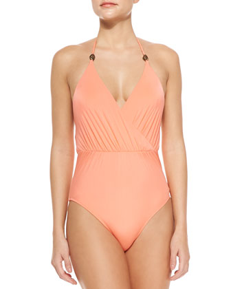 Gigi Seamed Crisscross One-Piece Swimsuit