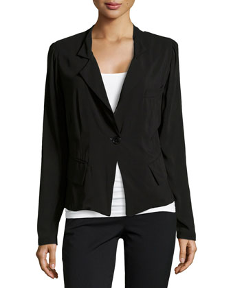Fluid One-Button Jacket