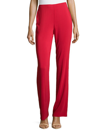 Boot-Cut Pull-On Pants, Scarlet