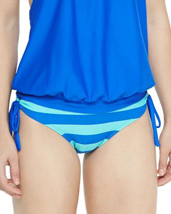 Lined Up Tankini Swim Top & Striped Swim Bottom