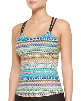 Soul Energy Printed Tankini Top & Jumpstart Swim Shorts