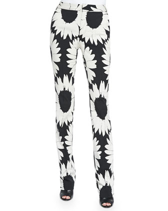 Eddie Floral-Print Boot-Cut Pants