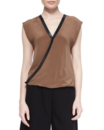 Wilde Cross Front V Neck Top
