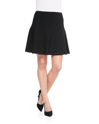 Nellie Box-Pleated Skirt
