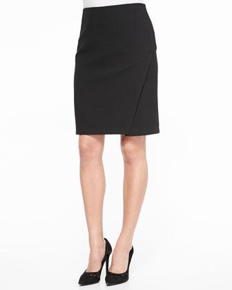 Sissy Slim Scissor-Hem Skirt