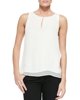 Raica Layered Silk Sleeveless Blouse