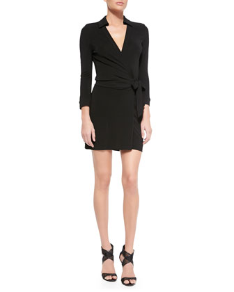Celeste Long-Sleeve Wrap Mini Dress