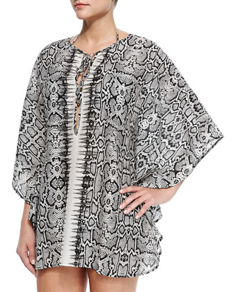 Sphinx Snake-Print Short Coverup