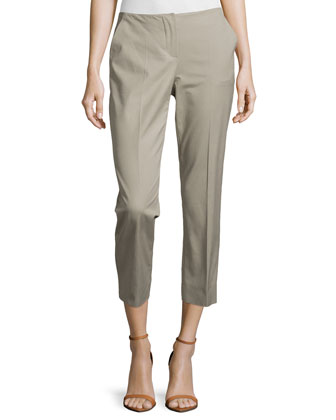 Cropped Stretch Cotton Pants, Chord