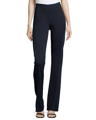 Straight-Leg Pants with Tapered Seams