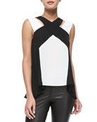 Sheli Sleeveless Colorblock Top