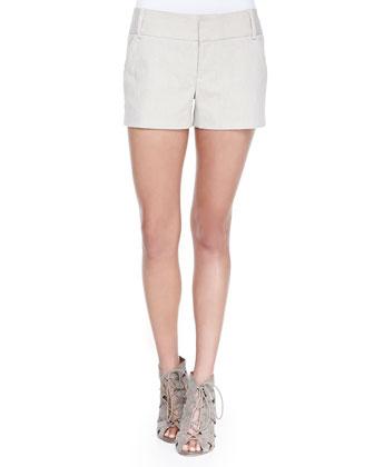 Cady Linen-Blend Shorts, Natural