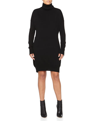 Cashmere Turtleneck Tunic, Black