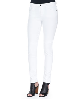 5-Pocket Skinny Jeans, White