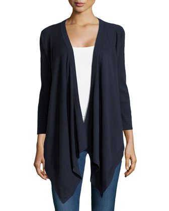 3/4-Sleeve Draped Cozy