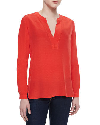 Esti Split-Neck Loose Top