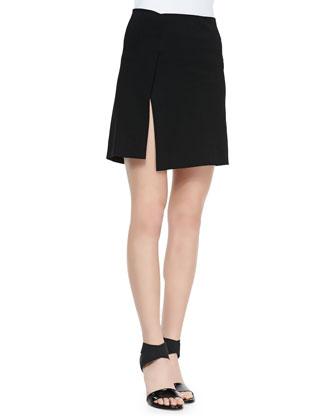 Short Scissor Skirt, Black