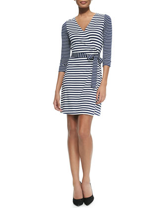 New Julian Two Striped Wrap Dress
