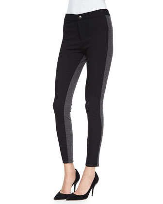 Ponte Leggings with Stripe