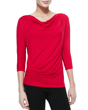 Cowl-Neck Top with Back Detail