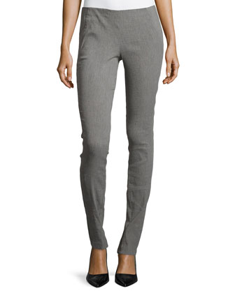 Pull-On Pants with Seam Detail, Greystone