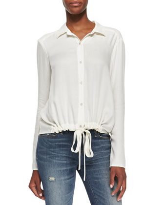 Jazmine Blouse W/ Embroidered Back