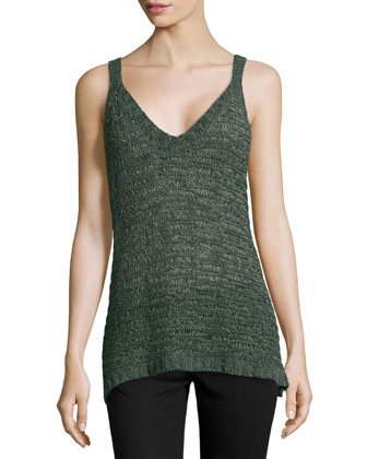 V-Neck Silk Camisole, Vetiver
