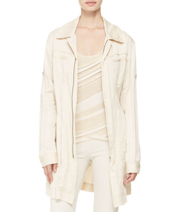 Belted Trench Shirt-Jacket